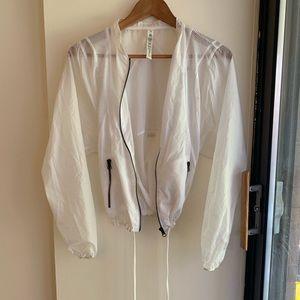 Alo Yoga Sunset Jacket in White, NWOT, Size XS